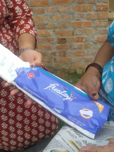 Freedays, the Sanitary Napkins distributed by the government