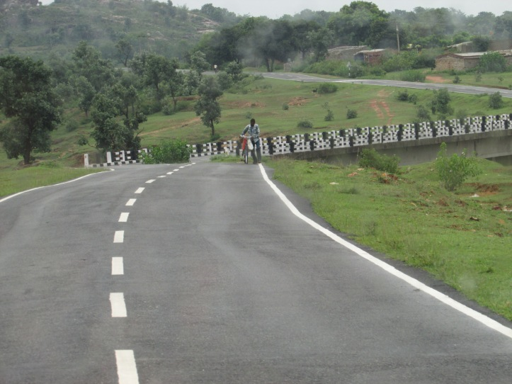 A newly laid road in Khunti district