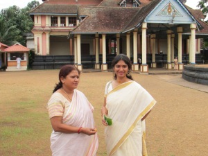 Vyjayanthi and me at the Mahadevar temple, Chengannur