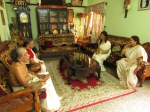 Vyjayanthi and I in conversation with Smt. Devika Devi and her husband