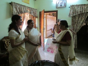 Smt. Devika Devi gifts us the auspecious Menstrual Cloth of the Goddess