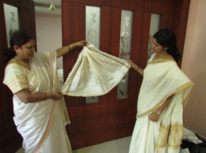This is the Udayada (inner skirt) worn by the Goddess when she is believed to be menstruating
